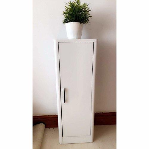 Mayford White Gloss Single Door Bathroom Floor Cabinet