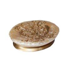 Home Hotel Bathroom Creative Soap Dishes Holder Case Sink [Golden]