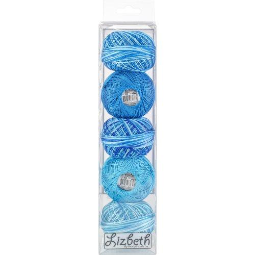 Handy Hands Lizbeth Specialty Pack Cordonnet Cotton Size 10-Turquoise Twist 5/Pkg