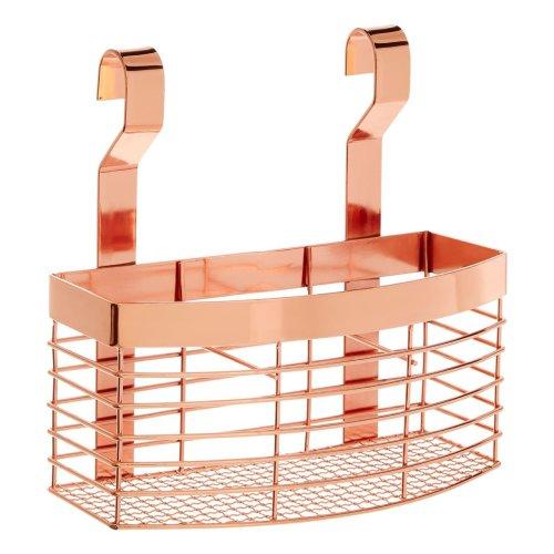 Sorello Hanging Storage Basket, iron, rose Gold