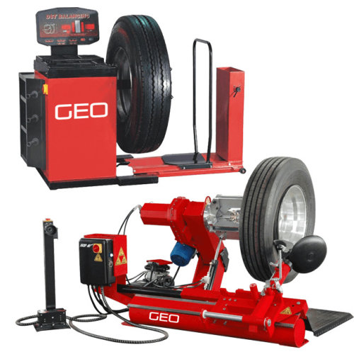 Large Commercial Vehicle Tyre Machine And Wheel Balancer Package