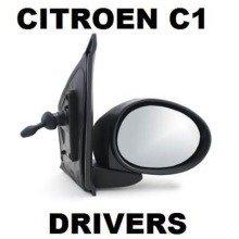 Citroen C1 2005 Onwards Manual Primed Door Wing Mirror Drivers Side Right O/s