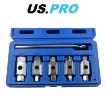 US PRO 6pc Double Ended Drain Sump Plug Key Set Hex Square Drive 3231