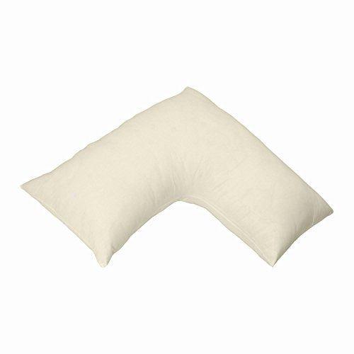 V Pillow V Shaped Cream Pillowcase by