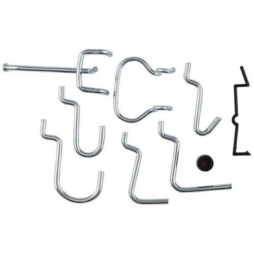 Peg Hooks Lock Assortment Zinc Plated