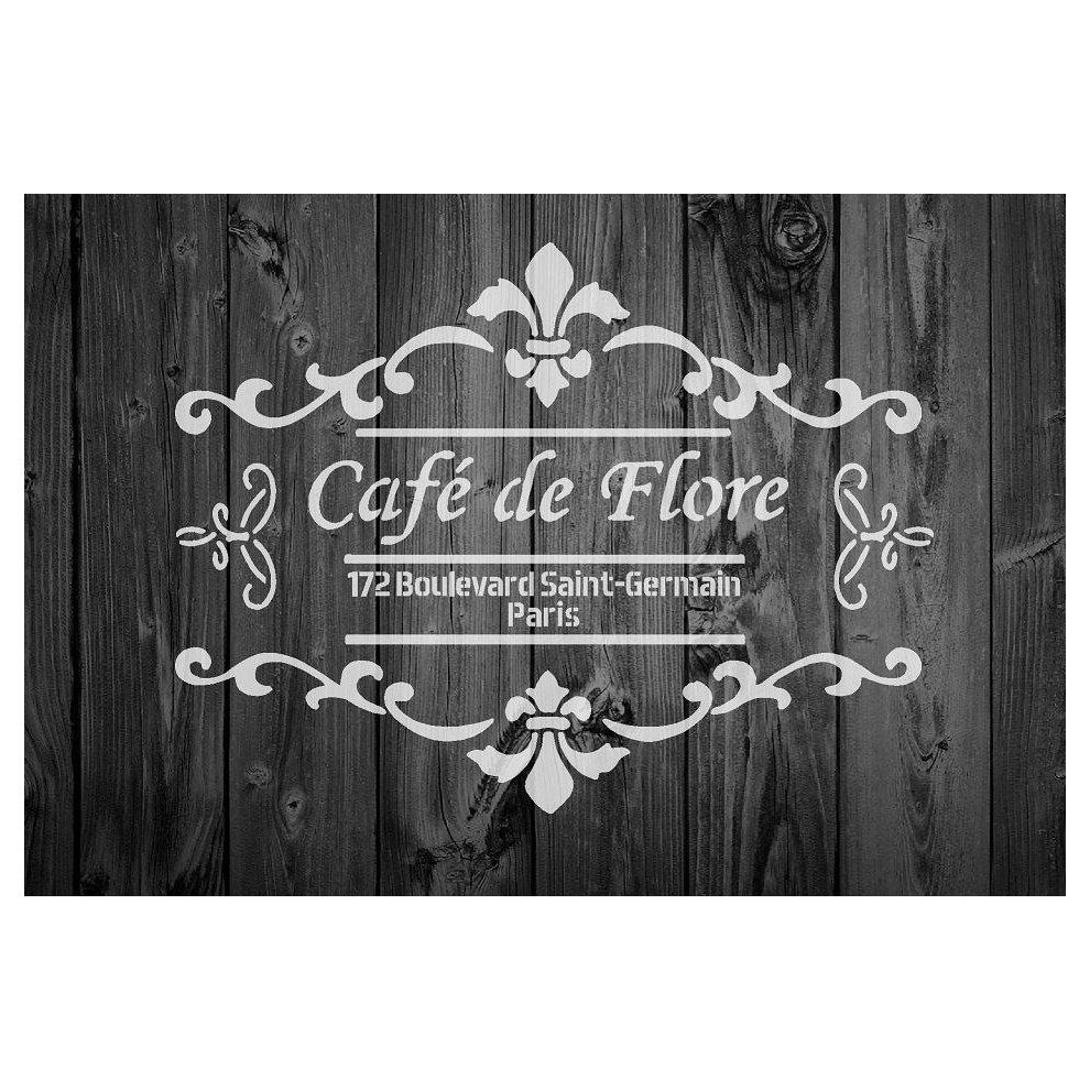 La Vie French Vintage Quote shabby chic stencil 190 micron mylar A3 A4 A5