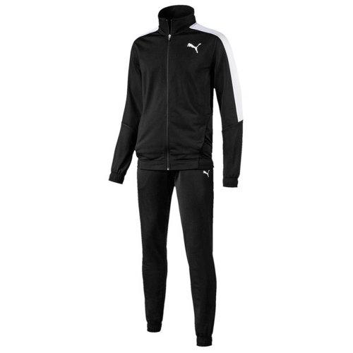 Puma Classic Tricot Mens Retro Fashion Sports Tracksuit Set Black