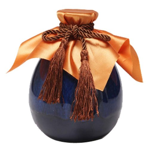 [B] Ceramic Empty Wine Bottle Creative Wine Jar Chinese Style Small Flagon