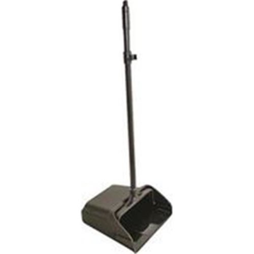 Long Handle Dustpan with Wheels, Black