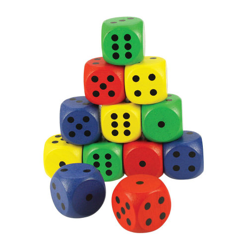 Bigjigs Toys Giant Dice Coloured (Pack of 12)