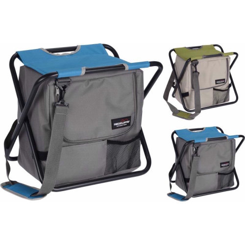 2 in 1 Foldable Fishing Chair & Cooler Bag with Handy Carry Strap