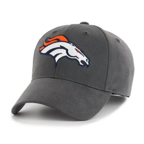 Fan Favorites F-MAC10BCV-CC NFL Denver Broncos Basic Adjustable Cap & Hat, Charcoal - One Size