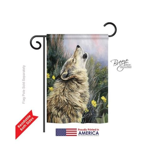 Breeze Decor 60059 Wildlife & Lodge The Call 2-Sided Impression Garden Flag - 13 x 18.5 in.