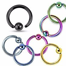 Fixed Ball ( One Side ) Surgical Steel CBR Universal Piercing Body Jewellery