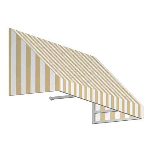Awntech EN2442-US-8LW 8.38 ft. New Yorker Window & Entry Awning, Linen & White - 24 x 42 in.