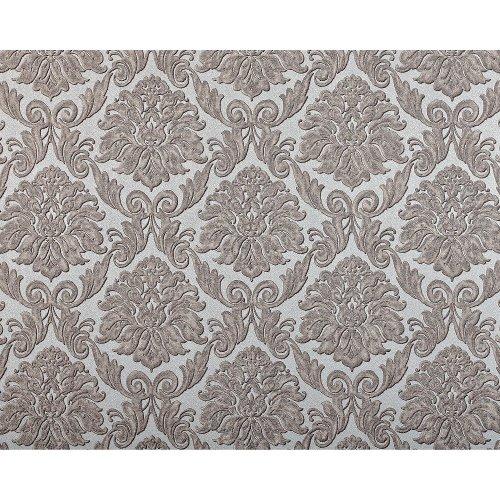 EDEM 9014-39 Baroque non-woven wallcovering shiny silver cream 10.65 sqm