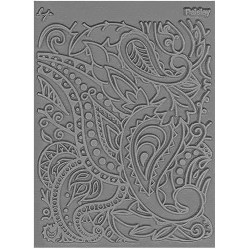 "Lisa Pavelka Individual Texture Stamp 4.25""X5.5""-Paisley"
