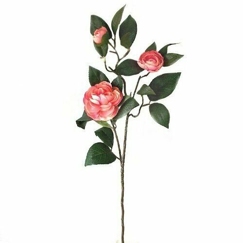 Artificial Pale Pink Camellia Spray - 66cm - Faux Flowers