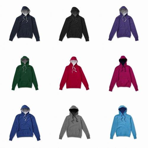 SG Kids Unisex Contrast Hooded Sweatshirt / Hoodie