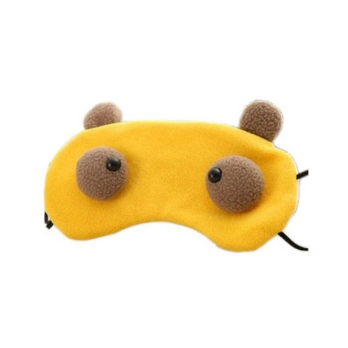 Creative Cartoon Eye Mask Funny Soft Eyeshade Eye Mask Yellow