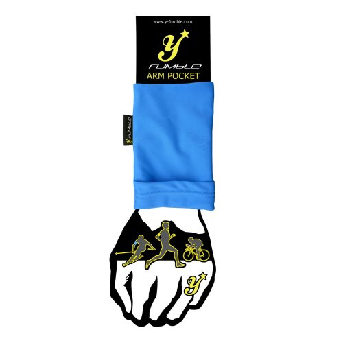 Y-Fumble Sport Arm Band Pocket Blue Small