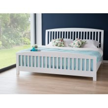 Bed - King Size Bed Frame - Wooden - CASTRES