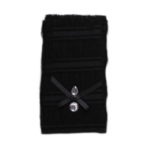 A Pair Outdoor Sunscreen Clothing Women Gloves Breathable Long Sun Protective Clothing Sleeves-Black