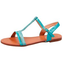 Safa Womens Flat Strappy Open Toe Sandals in Larger Sizes