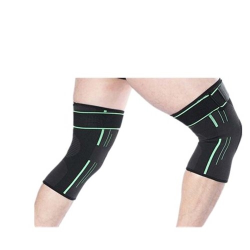 Sport Knee Compression Support Sleeve Knee Pads Knee Protector Brace(Pair), A2