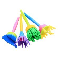Early Learning Sponge Painting Brushes Painting Tools [Multicolor-2]