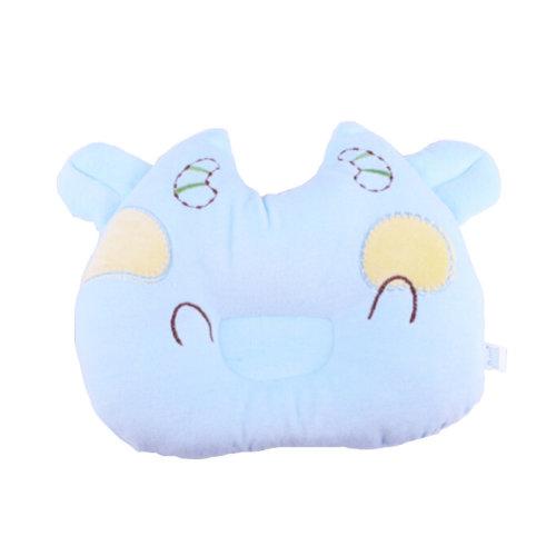 Cute Anti-roll Pillow Prevent Flat Head For 0-1 Years Cute Cow Blue