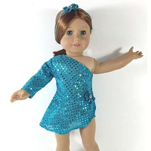 Unique Doll Clothing Teal Ice Skating Dress Baby-Doll-Accessories