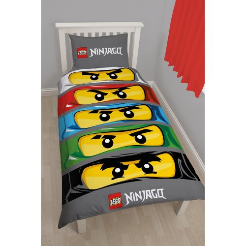 Character World Lego Ninjago Eyes Single Panel Duvet