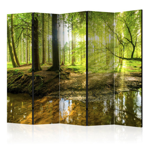 Forest Lake II Room Divider Screen | Decorative Folding Screen