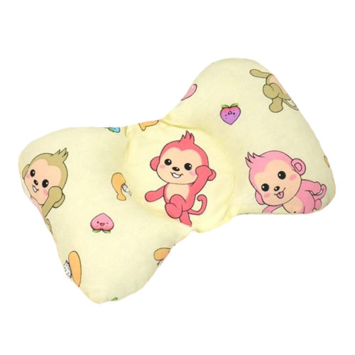 Cute Sleep Pillow For For 0-1 Years Cotton Prevent Flat Head Pillows, monekey