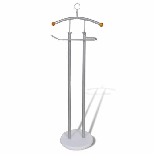 Top Quality Valet Stand Coat Shirt Rack Organizer Metal Frame Sturdy Grey