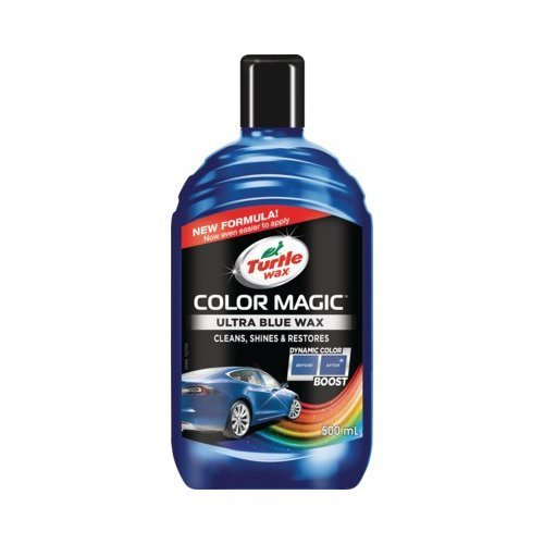 Turtle Wax Color Magic Car Paintwork Polish Restores Scratches Faded 500ml Blue