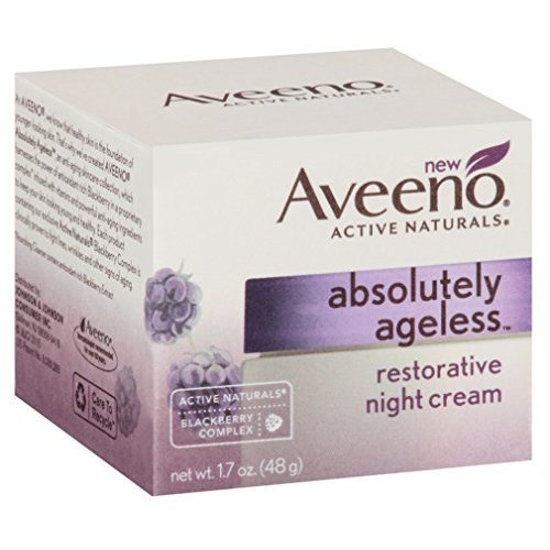 Aveeno Absolutely Ageless Night Cream 1 7 Ounce 50ml 3 Pack
