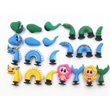 8pc 3D Shoe Charms Dragon Mermaid Crocodile Snake for Croc Shoes & Bracelets Toys Party Gifts