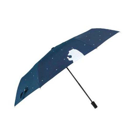 Sunscreen Sun And Rain Umbrella Anti-UV Umbrella Folding Umbrella, Blue Bear
