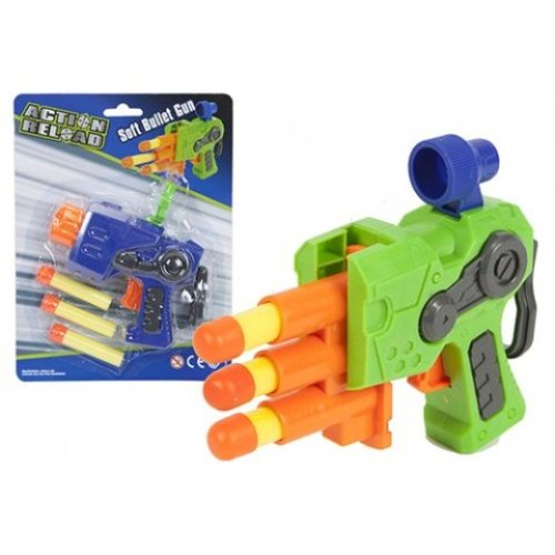 Eva Soft Dart Toy Gun With 3 Darts - Kids Childs Novelty Weapon Role Play Gift - Eva Soft Dart Gun With 3 Darts Kids Childs Toy Novelty Gun Weapon