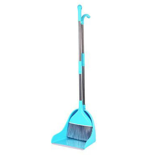 Durable Removable Broom and Dustpan Standing Upright Grips Sweep Set with Long Handle, #B3