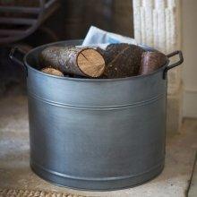Galvanised Log Bucket