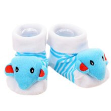 3 Pairs Non-slip Newborn Baby Boy Girls Toddler Socks Warm Non-skid Stockings Baby Gift For 6-12 Month Baby-A03