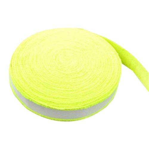 Badminton Crank Handle - Tennis, Badminton Hand Gel  Towel -- Fluorescent Yellow