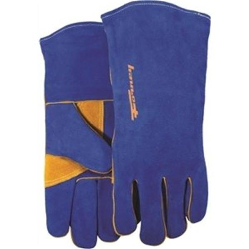 Forney Industries Inc 53422 Gloves Welding Heavy-Duty Blue Mens - Large