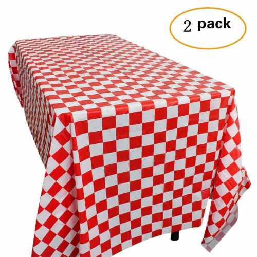 Yooyee Red and White Plastic Checkered Tablecloths Disposable Party Table Covers - Picnic Party Decoration 2 Pack on OnBuy  sc 1 st  OnBuy & Yooyee Red and White Plastic Checkered Tablecloths Disposable Party ...