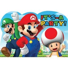 Super Mario Invitation Postcards - /8