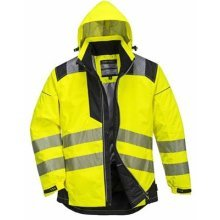 Portwest T400YBRL Vision Jacket Rain and High Visibility, Yellow, L