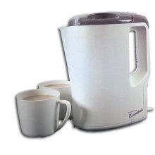Lloytron Travel Kettle with Cups - Cream/Grey (E886)